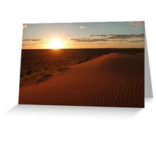 Sunset at Big Red (Birdsville) Greeting Card
