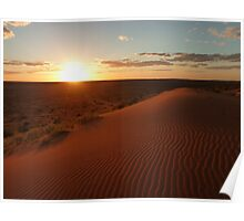 Sunset at Big Red (Birdsville) Poster