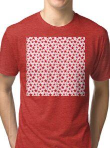 Red stars on white background Tri-blend T-Shirt