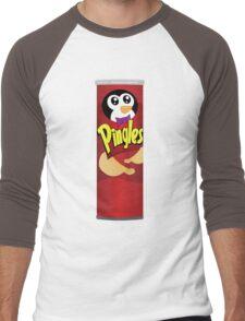 What is a Penguin's Favorite Chip? Men's Baseball ¾ T-Shirt