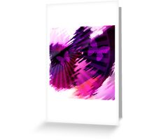 Flight of the butterflies at sunset .  Greeting Card