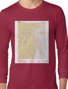 USGS TOPO Map California CA Bohemotash Mountain 299972 1990 24000 geo Long Sleeve T-Shirt