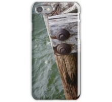 Pier at Lake Huron, East Tawas, Michigan iPhone Case/Skin