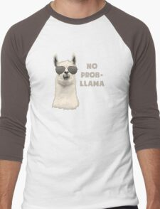 No Problem Llama Men's Baseball ¾ T-Shirt