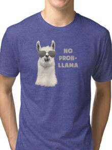 No Problem Llama Tri-blend T-Shirt