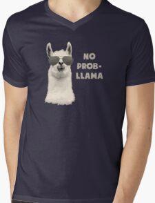 No Problem Llama Mens V-Neck T-Shirt