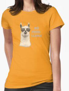 No Problem Llama Womens Fitted T-Shirt