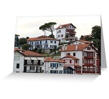 Charming Sea Side Town II - Basque country, France. Greeting Card