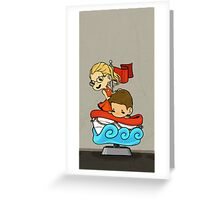 Team Arrow Goes - Oliver&Felicity  Greeting Card