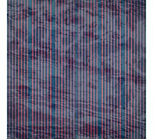 Red stripes on grunge textured blue background Photographic Print