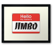 JIMMY NEUTRON Framed Print