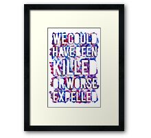 OR WORSE (outline - painted) Framed Print