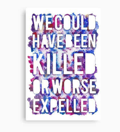 OR WORSE (outline - painted) Canvas Print