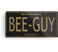 Bee Guy License Plate Metal Print