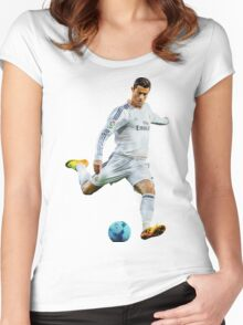 cristiano ronaldo Women's Fitted Scoop T-Shirt