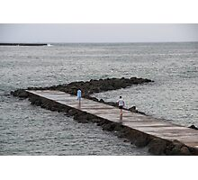 Walking through the Pontoon - Basque Country, France. Photographic Print