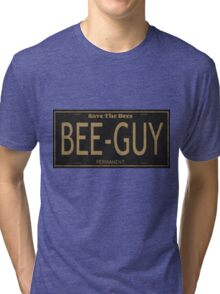 Bee Guy License Plate Tri-blend T-Shirt