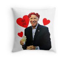 Joe Biden Eating Ice Cream - True Love Throw Pillow