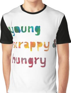 Young, Scrappy, & Hungry - Hamilton (painted) Graphic T-Shirt