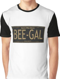 Bee Gal License Plate Graphic T-Shirt