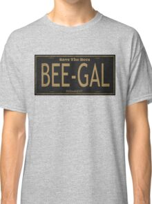 Bee Gal License Plate Classic T-Shirt