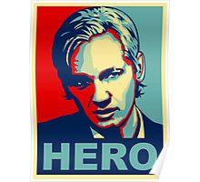 Julian Assange 'Hero' Poster