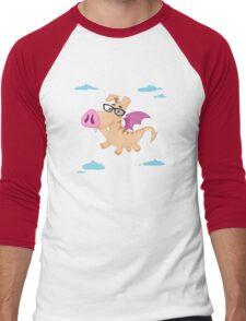 Pig Dragon Men's Baseball ¾ T-Shirt