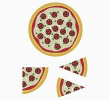 Pizza Sticker Kit (whole, quarter, 2 slices) by xouren
