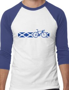 Bike Stripes Scotland Men's Baseball ¾ T-Shirt