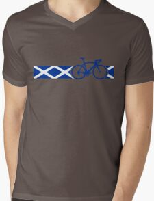 Bike Stripes Scotland Mens V-Neck T-Shirt