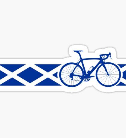Bike Stripes Scotland Sticker