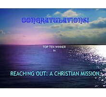 Reaching Out: Top Ten Banner Photographic Print