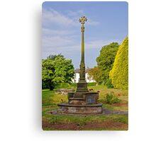 War Memorial in St Mary's Churchyard Tutbury Canvas Print