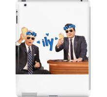 Joe Biden and Jimmy Fallon Eating Ice Cream  iPad Case/Skin