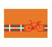 Bike Stripes Basque Art Print