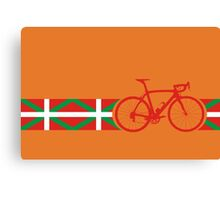 Bike Stripes Basque Canvas Print
