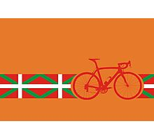 Bike Stripes Basque Photographic Print