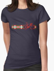 Bike Stripes Basque Womens Fitted T-Shirt