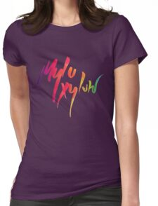 coldplay sky Womens Fitted T-Shirt