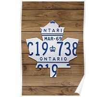 Toronto Maple Leafs Vintage Decar Poster - Light Walnut Poster