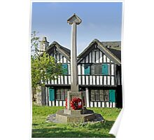 War Memorial and Rectory Mansion, Brading Poster