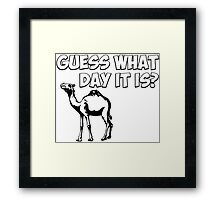 Guess What Day it Is? Hump Day Camel Framed Print