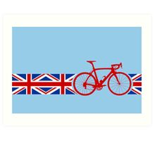 Bike Stripes Union Jack Art Print