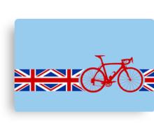 Bike Stripes Union Jack Canvas Print