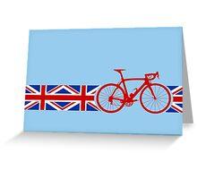 Bike Stripes Union Jack Greeting Card