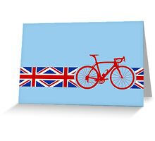 Bike Stripes Union Jack Greeting Card