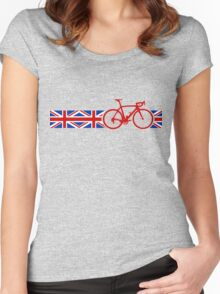 Bike Stripes Union Jack Women's Fitted Scoop T-Shirt