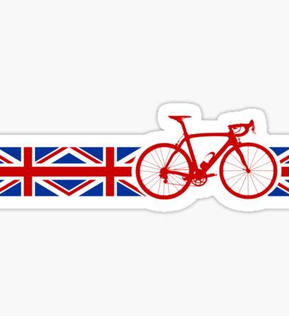 Bike Stripes Union Jack Sticker
