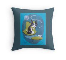 Boston Terrier At Home Throw Pillow