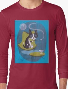 Boston Terrier At Home Long Sleeve T-Shirt